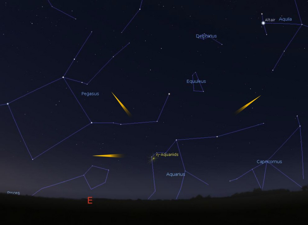 When to view meteors