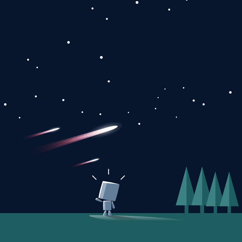 I want to see star constellations and meteor showers
