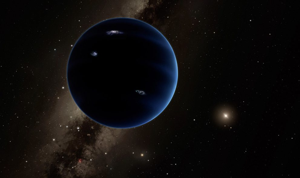 Planet Nine, artist impression. Credit: Caltech/R. Hurt (IPAC)