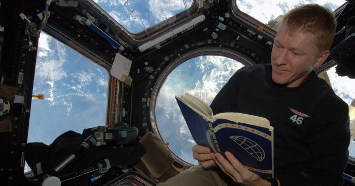 UK Astronauts Make Unique Book Loan