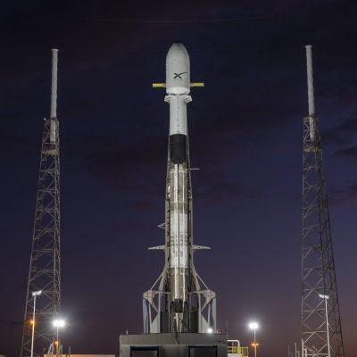 SpaceX Falcon 9 rocket carrying 60 satellites