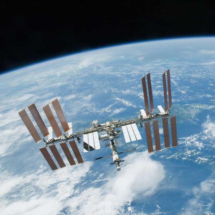 International Space Station Image above Earth