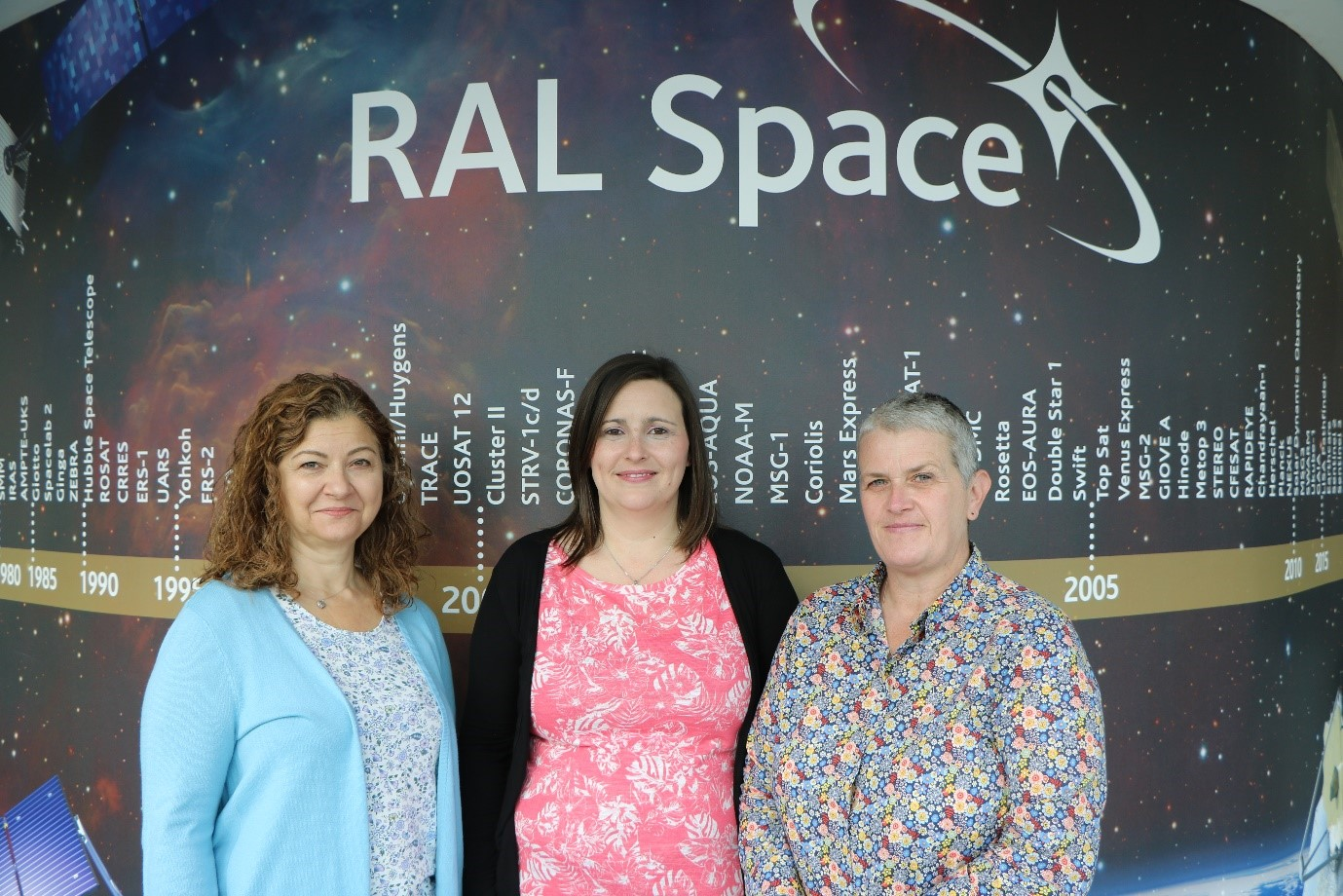 Kim, Claire and Angela – the Space Crafters