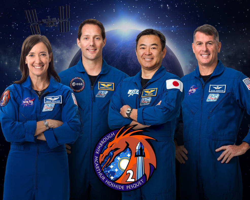 Expedition 64 official crew portrait