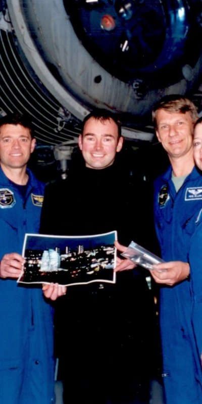 NASA Space Shuttle STS-112 Crew Visit